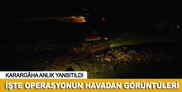 'Şah Fırat' operasyonu havadan görüntüleri